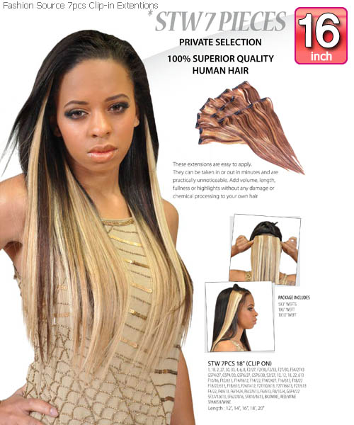 Fashion source stw16 clip in hair extension pmusecretfo Image collections
