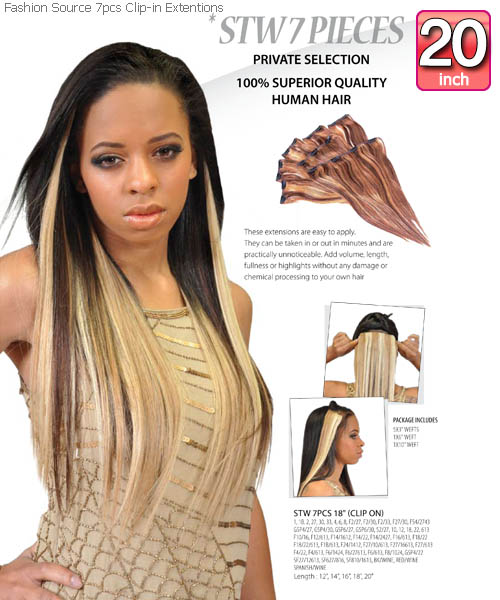 Fashion source stw20 clip in hair extension pmusecretfo Choice Image