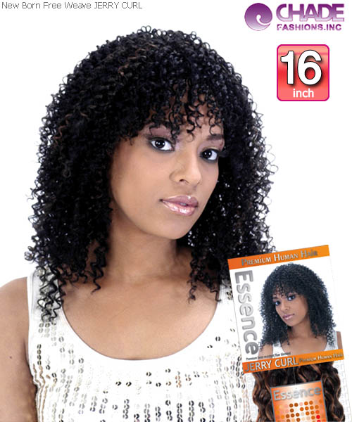 New Born Free - JERRY CURL 16 Human Blend Weaving Hair