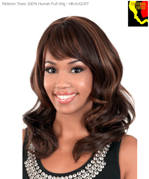 Motown Tress HB-AUGUST - Human Hair NE 1 Motown Full Wig