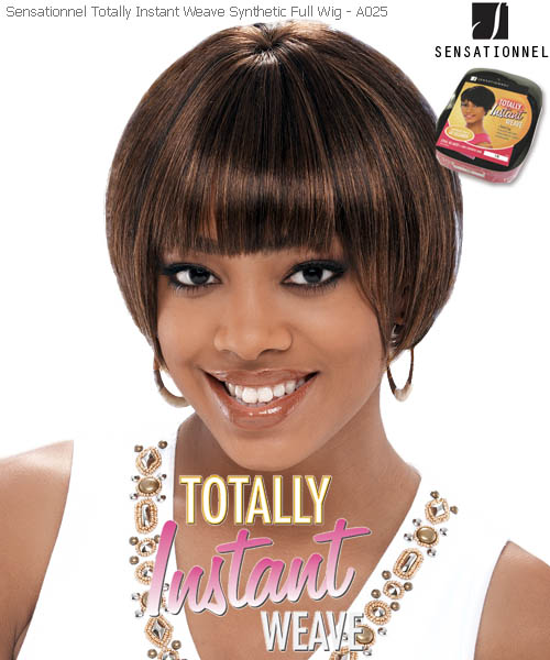 Sensationnel Totally Instant Weave A025 - Synthetic Full Wig