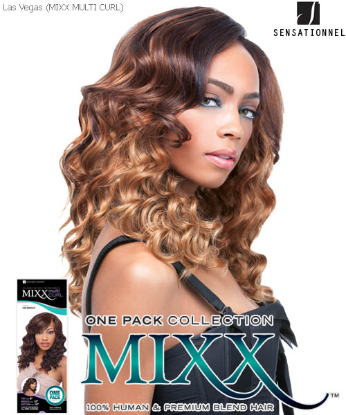 Sensationnel Mixx Multi Curl Long LAS VEGAS - Human Blend Weave