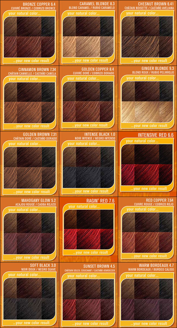 Creme Of Nature Hair Dye Color Chart