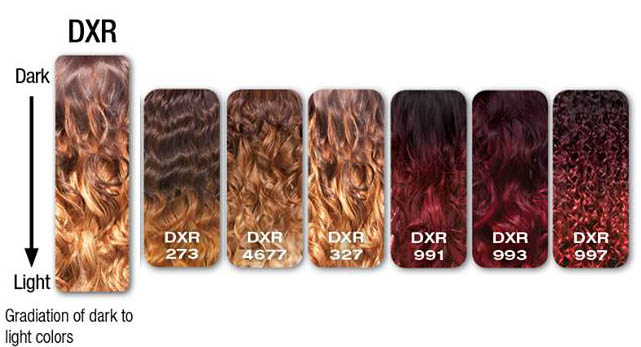 sensationnel Ombre Colors list What is DXR Color