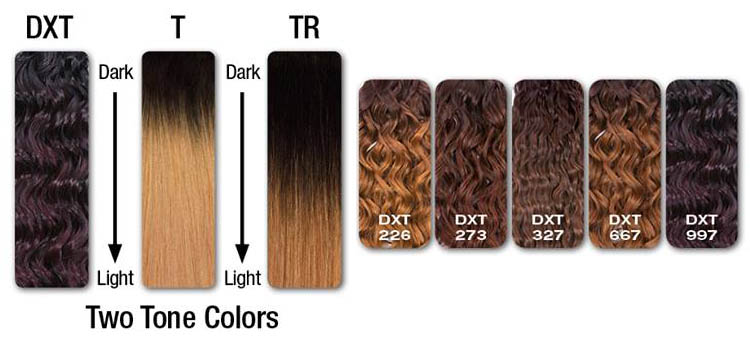 sensationnel Ombre Colors list What is DXT Color