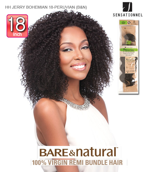 Sensationnel 100 Unprocessed Remi Human Hair Weave Extention Bare Natural Peruvian Jerry Bohemian 18