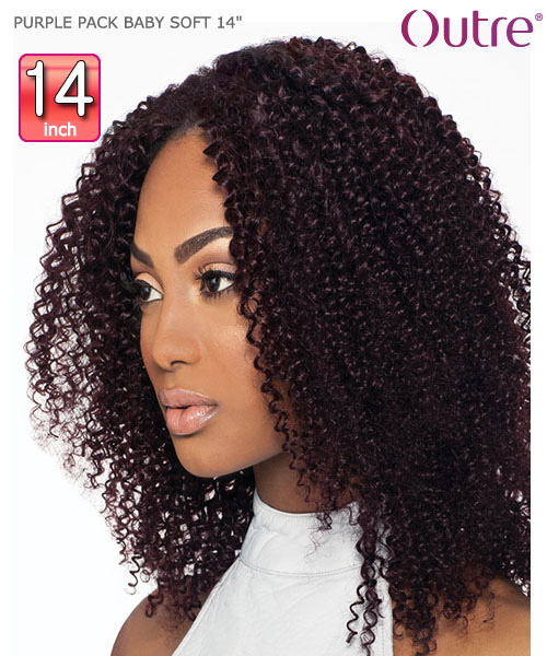 Outre purple pack baby soft 14 weave extension outre purple pack baby soft 14 human hair weave extension pmusecretfo Images