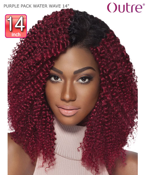 Outre purple pack water wave 14 weave extension outre purple pack water wave 14 human hair weave extension pmusecretfo Images