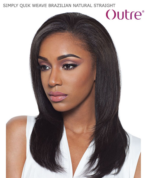 ... Outre SIMPLY QUIK WEAVE - BRAZILIAN NATURAL STRAIGHT Human Hair Half Wig  ... 5e5f9c4aacc7