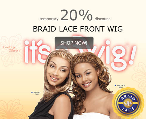 it's a wig braid lace front wig 20% discount