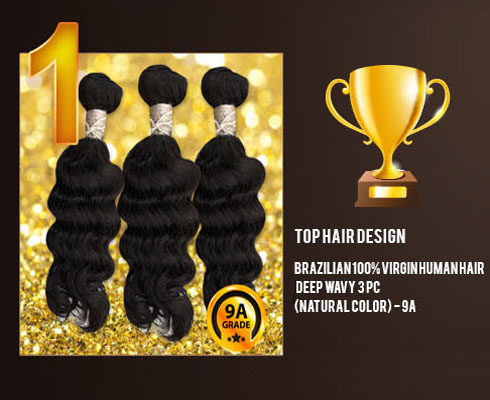 Top Hair Design BRAZILIAN 100% Virgin Human Hair