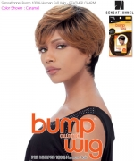 Human Bump Wig FEATHER CHARM - Sensationnel Human Hair Full Wig