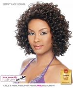 It's a wig Synthetic Simply Lace Front Wig - SIMPLY LACE COOKIE