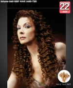 Bohyme Gold  DEEP WAVE HAND-TIED 22 - Hand-Tied Weft Remi Human Hair Weave