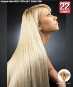 Bohyme Gold  SILKY STRAIGHT HAND-TIED 22 - Remi Human Hair Weave