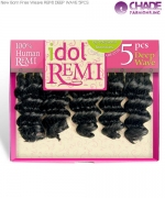 Idol REMI DEEP WAVE 5PCS - New Born Free Remi Human Weaving Hairs