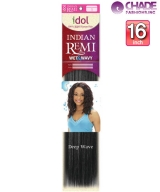 Idol Indian WET&WAVY (DEEP) 16s - New Born Free Remi Human Weaving Hairs