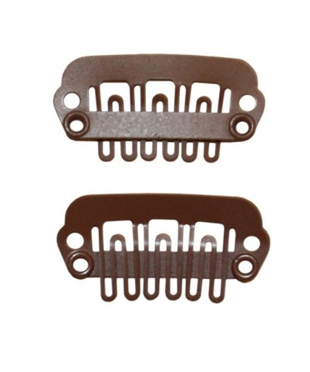 Wig Clip 2 PCS Brown Small