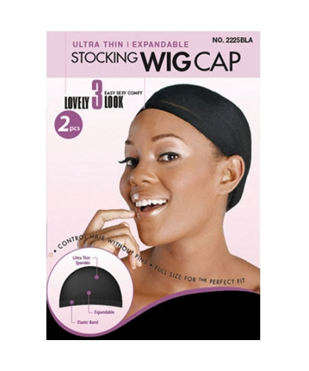 Magic Stocking Wig Cap Black
