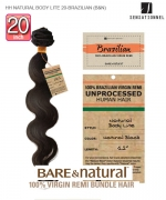 Sensationnel 100% Unprocessed Remi Human Hair  Remi Human Weave Extension - HH NATURAL BODY LITE 20-BRAZILIAN (B&N)