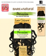 Sensationnel Bohemian 100% Virgin Remi Lace Closure  Bare & Nat Remi Human Weave Extension - LACE CLOSURE BOHEMIAN 10