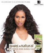 Sensationnel 100% Unprocessed Remi Human Hair  Remi Human Weave Extension - HH LOOSE DEEP 16.18.20-PERUVIAN 1PK (B&N)
