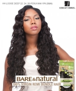 Sensationnel 100% Unprocessed Remi Human Hair  Remi Human Weave Extension - HH LOOSE DEEP 22.24.26-PERUVIAN 1PK (B&N)