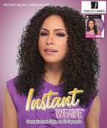 Sensationnel High Quality Synthetic Hair Instant Weave Synthetic Half Wig - INSTANT WEAVE CARACAS-HRF