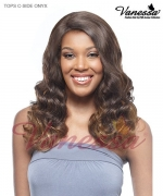 Vanessa Lace Front Wig TOPS C-SIDE  ONYX - Synthetic TOP SUPER C-SIDE LACE PART Lace Front Wig