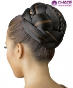 New Born Free Hair Piece - CP83 MOON BRAID BUN Apple Dome