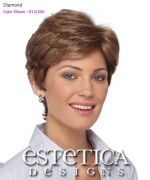Estetica Classique Pure Stretch Cap Full Wig - Diamond