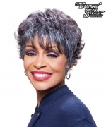 Foxy Silver Synthetic Full Wig - AMERI