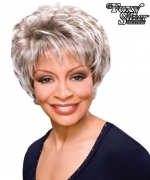 Foxy Silver Synthetic Full Wig - GAIL