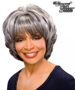 Foxy Silver Synthetic Full Wig - MARGARET