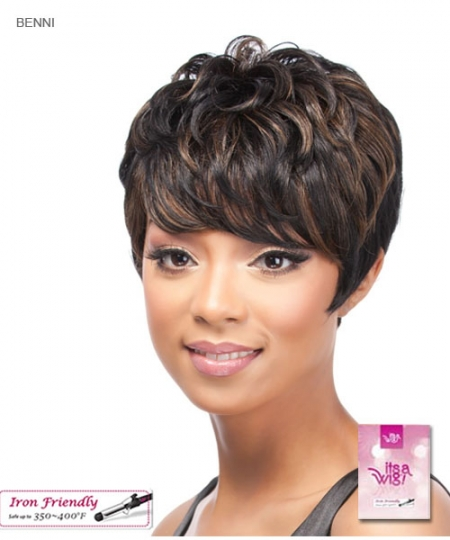 It's a wig Synthetic  Full Wig - BENNI