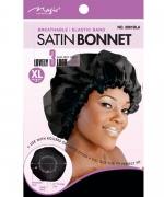 Magic Satin Bonnet X Large Black