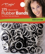 Magic 275PCS Rubber Band Black and White