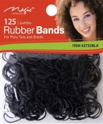 Magic 125PCS Jumbo Rubber Band Black