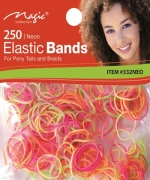 Magic 250PCS Elastic Bands Neon
