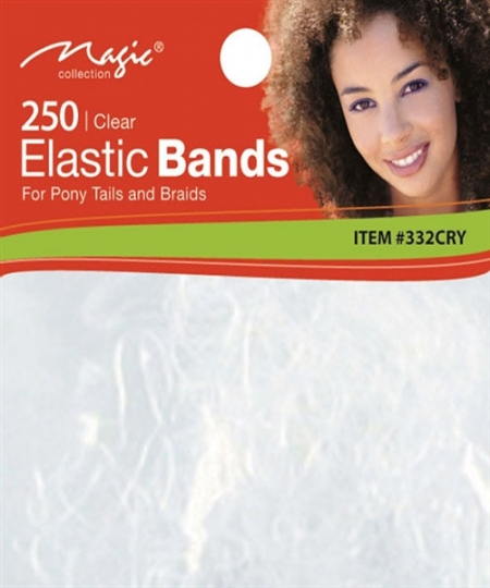Magic 250PCS Elastic Bands Clear