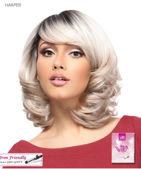 It's a wig Synthetic  Full Wig - HARPER