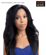Model Model Full Wig - JINNI DEEP INVISIBLE L-PART Synthetic Full Wig