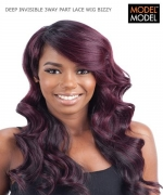 Model Model Lace Front Wig - BIZZY DEEP INVISIBLE 3WAY PART Synthetic Lace Front Wig