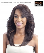 Model Model Lace Front Wig - BEAUTY MEADOW DEEP INVISIBLE L-PART Synthetic Lace Front Wig