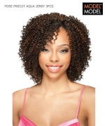 Model Model Weave Extention - AQUA JERRY 3PCS PRECUT Human Hair Weave