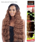 Model Model Weave Extention - LONG SOFT BUNDLE 7PCS(22.24.26+CLOSURE)
