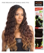 Model Model Weave Extention - SOFT BUNDLE WAVE 7PCS (16.18.20+CLOSURE) PERUVIAN