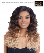 Model Model Weave Extention - SPIRAL ROLL BUNDLE 7PC(14.16.18+CLOSURE) PERUVIAN