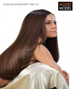Model Model Weave Extention - MALAYSIAN REMY YAKY 16  Remi Human Hair Weave