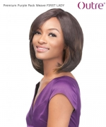 Outre Weave Extension  - FIRST LADY Premium PURPLE PACK Human Hair Blend Weave Extension